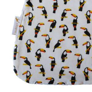 Détail du motif toucan