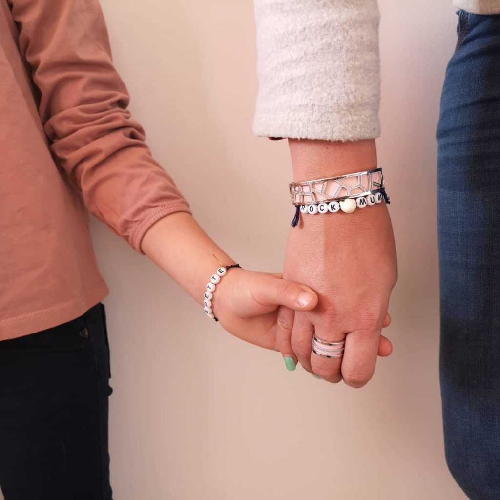 bracelet à message mere fille
