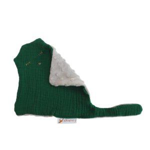 doudou vert à pois aile pliée