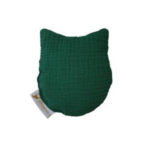 Bouillotte vert chat