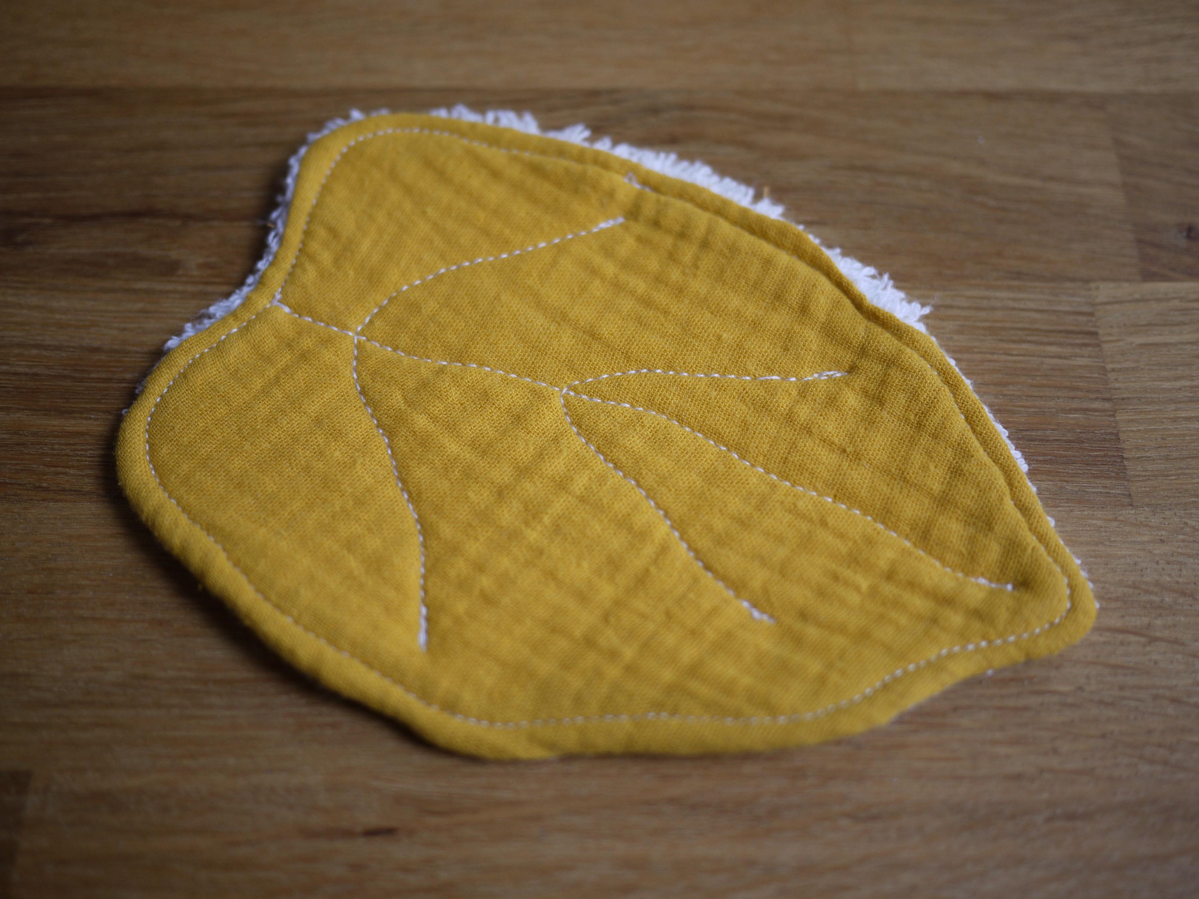 Feuille lingette zero déchet moutarde