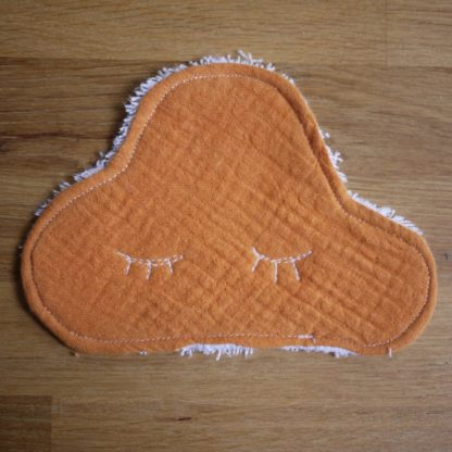 lingette orange en forme de nuage