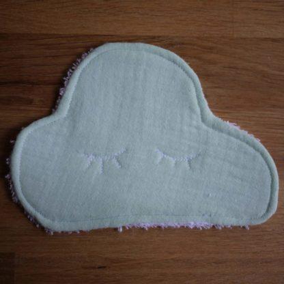 Lingette mint de grande taille en forme de nuage