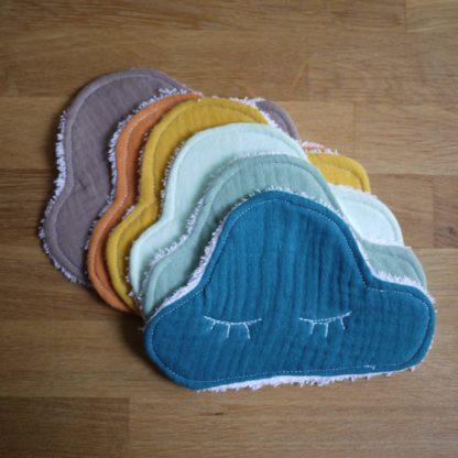 une jolie gamme colorée de lingette nuage