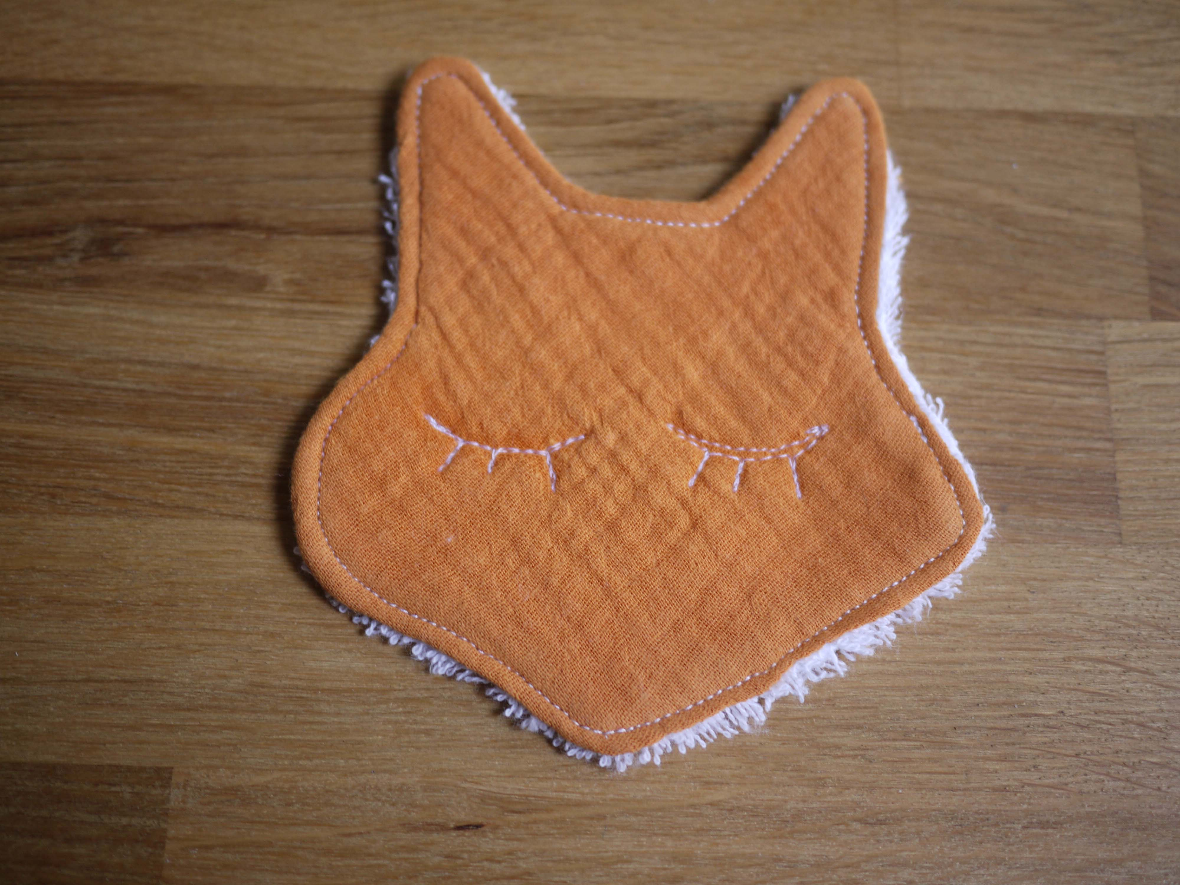lingette renard démaquillante Orange