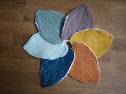 les différents coloris de lingettes feuilles 6 gazes de coton