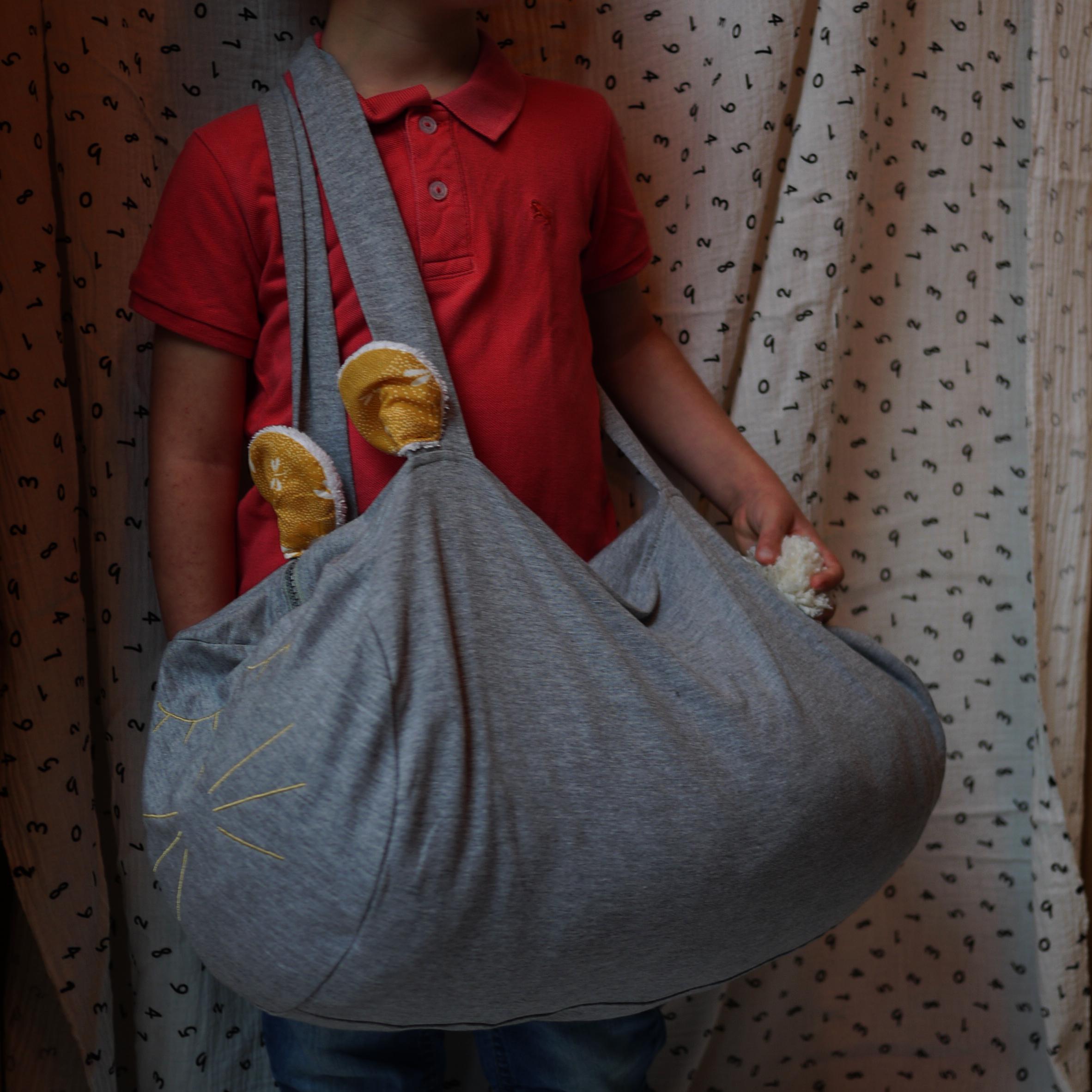 un sac polochon animal trop pratique pour mini