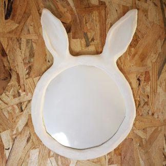 Miroir rond a oreilles de lapin