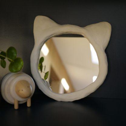 miroir chat 20 cm