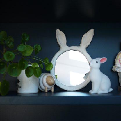 Miroir oreilles de lapin posé