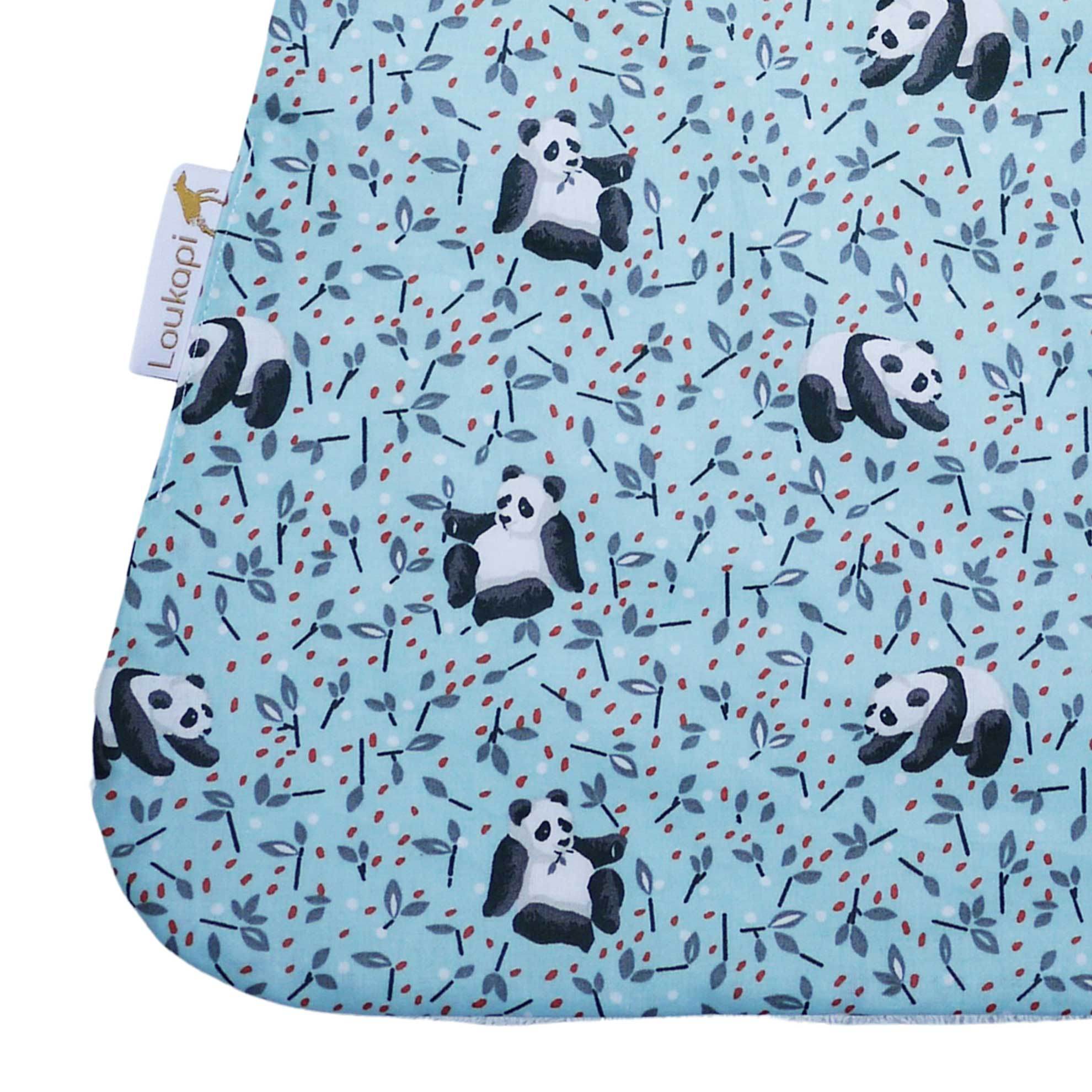 Détail serviette magique enduit panda
