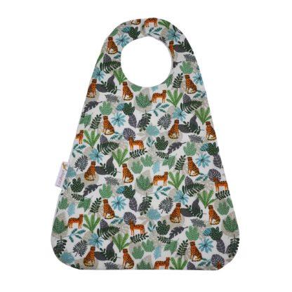 Bavoir magique motif guépard bleu vert orange