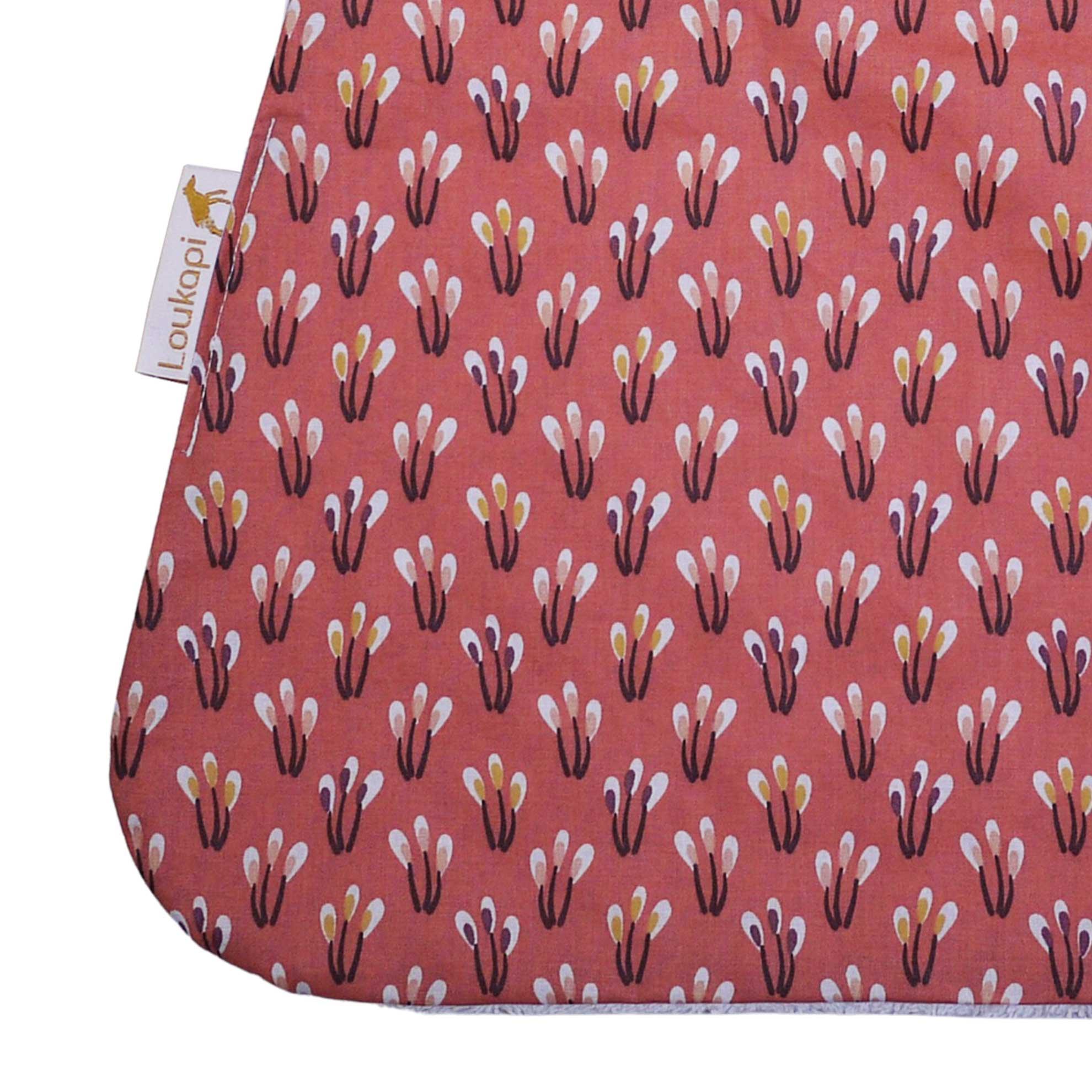 Détail tissu coton enduit étamine