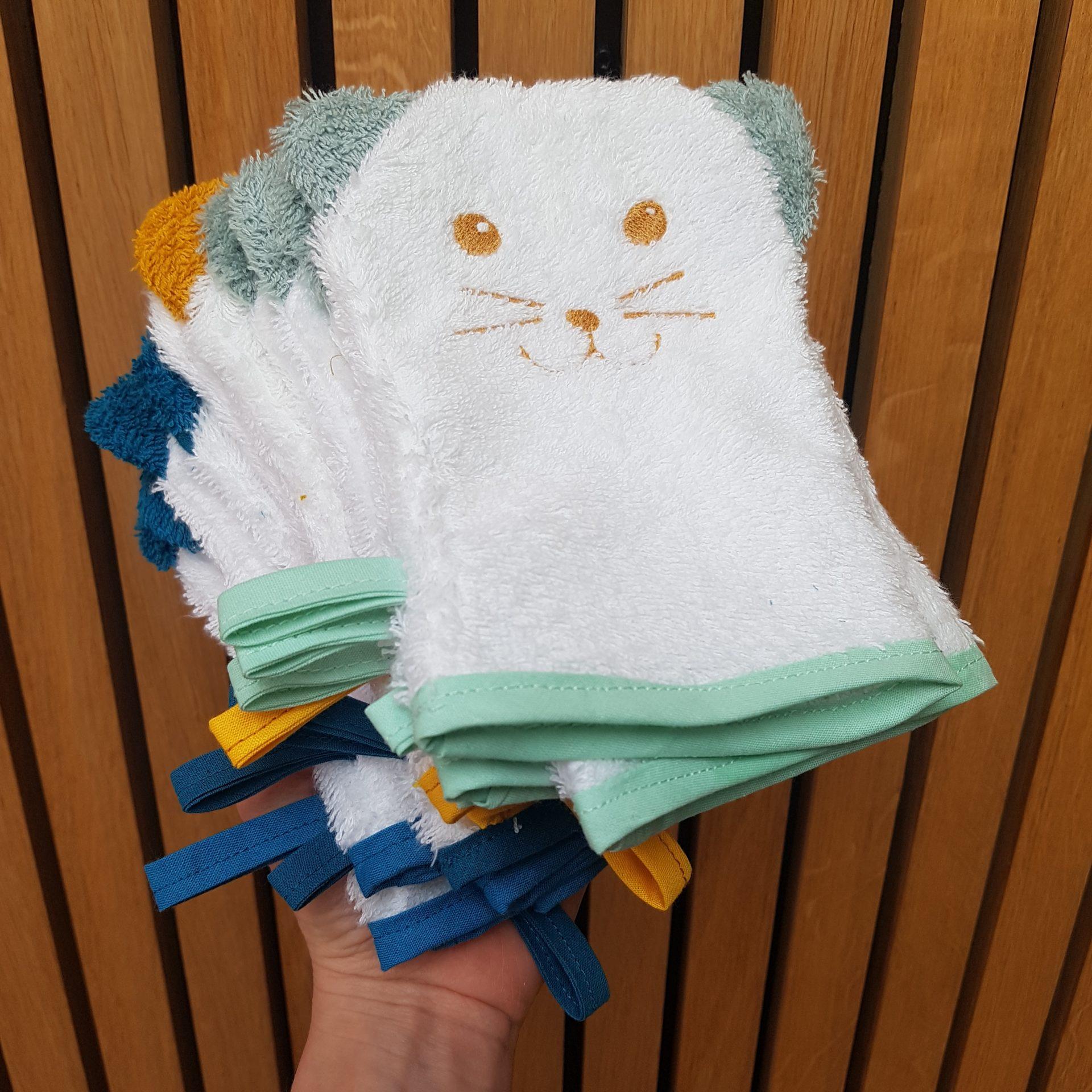 de joli gant de toilette a adopter
