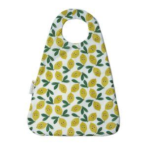 Grand bavoir maternelle fait main modèle petits citrons