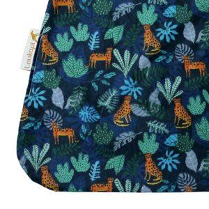 Serviette coton enduit détail du motif par loukapi