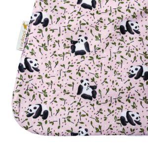 serviette enfant en coton enduit motif panda